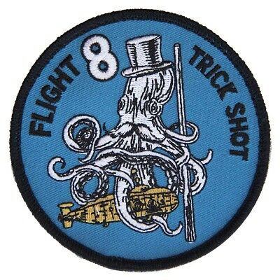 Australian Navy MH-60R Flight 8 'Trick Shot' Aircrew Embroidered Patch - New