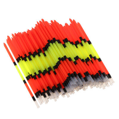 100pcs Fishing Floats Vertical Buoy Long Tail Float Floating Tube