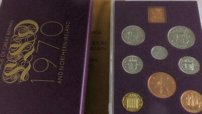 1970 ROYAL MINT GREAT BRITAIN PROOF 8 COIN YEAR SET - last pre decimal set BOXED