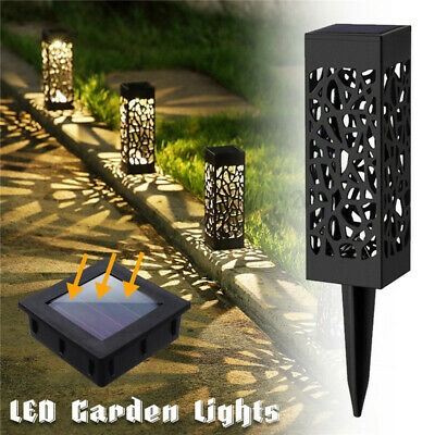 4X Solar Garden Torch Lights Dancing Flames LED Waterproof Landscape Lawn Light