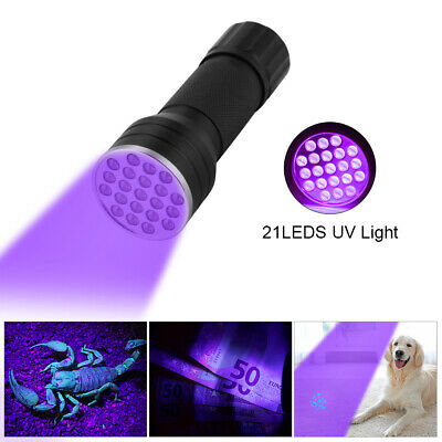 Portable Ultra Violet 21/51LEDs 395nm UV Flashlight Torch Light Blacklight Lamp