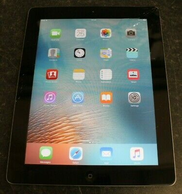 Apple iPad 2 16GB, Wi-Fi, 9.7in - Black (Cracked Screen)