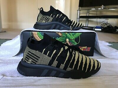sale retailer 95c83 9ecdc Adidas X Dragon Ball Z DBZ Super Shenron EQT Support Mid Black Gold UK 9 EU
