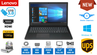 """New Fast HD V145 15.6"""" DVD Windows 10 Pro Laptop - With Office 2016"""