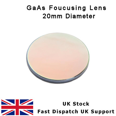 "GaAs FOCUS LENS 20mm DIA FL 50.8mm 2"" MENISCUS CO2 HPC LASERSCRIPT LASER CUTTER"