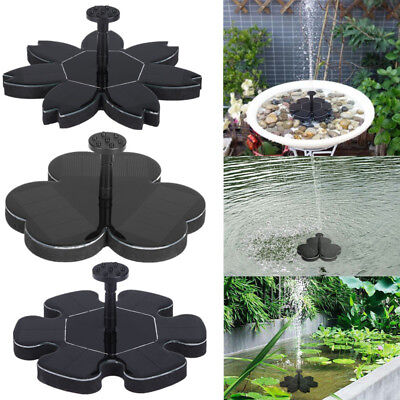 Solar Water Panel Power Fountain Pump Kits Pool Garden Pond Watering Submersible