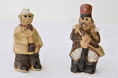 Two Tremar Cornwall Pottery Figures, Soldier/Legionnaire and Yokel/Cider Drinker