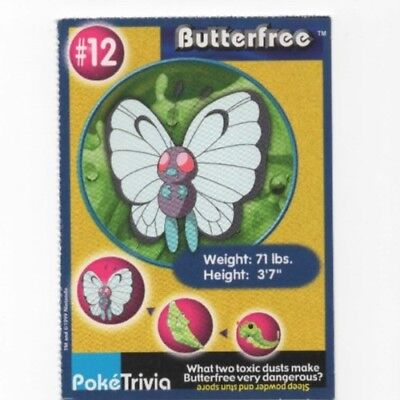 BUTTERFREE #12 POKEMON Poke Trivia Card Burger King Mewtwo