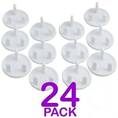 24 pcs  Baby Child Proof Plug Socket Safety Cover Protection Guard - 3 Pin UK