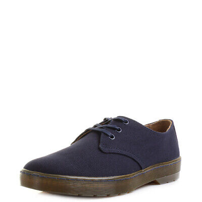 b9cfe562d28 MENS DR MARTENS Delray Overdyed Twill Canvas Navy 3 Eye DM Shoes Size - EUR  63