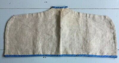 Antique Vintage Linen Coat Clothes Dress Hanger Dust Cover Garment Bag