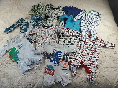 Baby Boys Baby Grow Bundle Age 0 To 3 Months