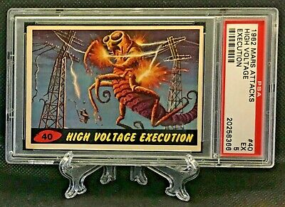 1962 Mars Attacks HIGH VOLTAGE EXECUTION #40 EXCELLENT 5 - Topps garno PSA