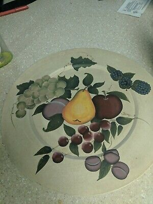 15 Home Interiors Decorative Fruit Wall Plate Grapes Pears Sonoma