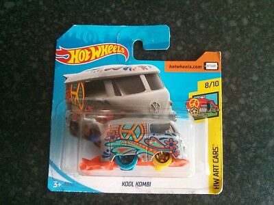 Hot Wheels FJW77	2018	HW Art Cars	8/10	Volkswagen	Kool Kombi	353/365	Grey