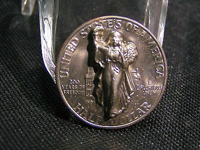 1976 punch out pop up kennedy half dollar repousse punched pressed 3D liberty
