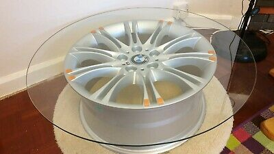 Awesome Alloy Wheel Coffee Table 20Inch Split Rim Bbs Glass Top Man Gamerscity Chair Design For Home Gamerscityorg