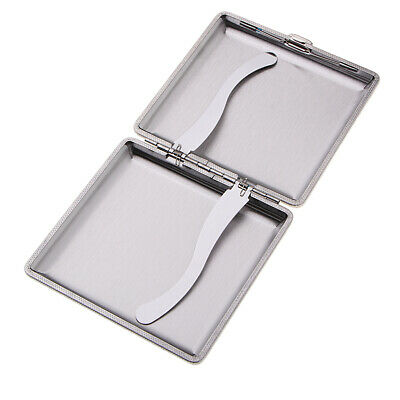Metal Cigarette Case Holder Waterproof 20 Cigarettes Pocket Box for Travel