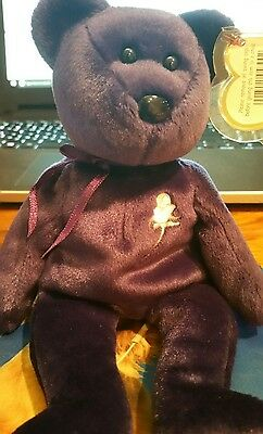 Ty Beanie Baby 1997 Princess Diana Bear Retired PE pellets stamped 8787c734a6b2
