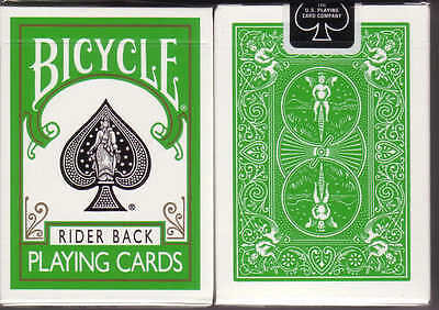Bicycle Green Rider Back Deck Playing Cards Standard Size & Face Magic Tricks