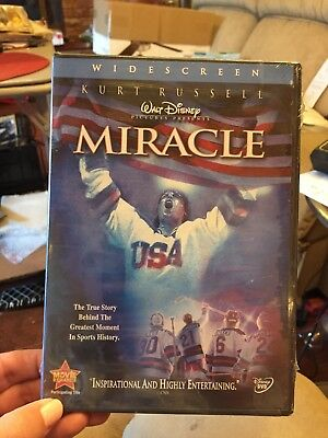 New! Walt Disney's Miracle Widescreen Edition 2 Disc set DVD 2004 Kurt Russell