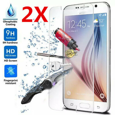 2x For Samsung Galaxy S9 8 7 6 5 Tempered Glass Protective Screen Protector bw