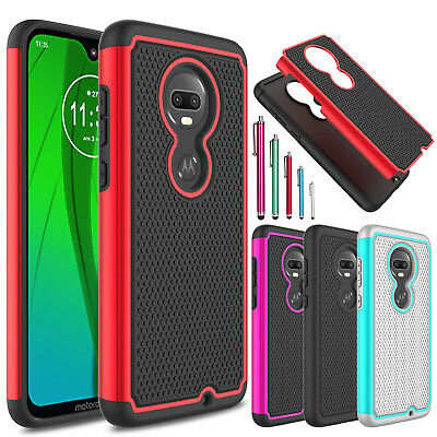 For Motorola Moto G7/G7 Plus/Power/Supra/Play Shockproof Armor Rubber Case Cover