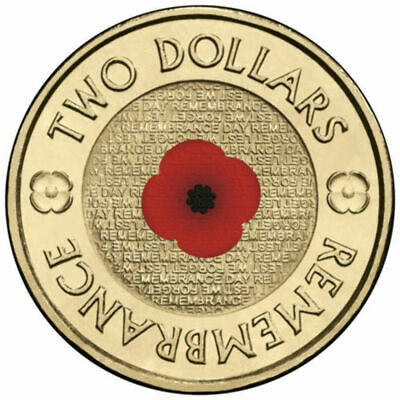 2012 Red Poppy Two Dollar Coin on RSL Card - SCARCE UNC - Lest We Forget $2