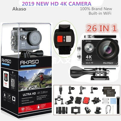 2019 New Akaso EK7000 12MP Ultra HD 4K Action Camera Cam Waterproof DV Camcorder