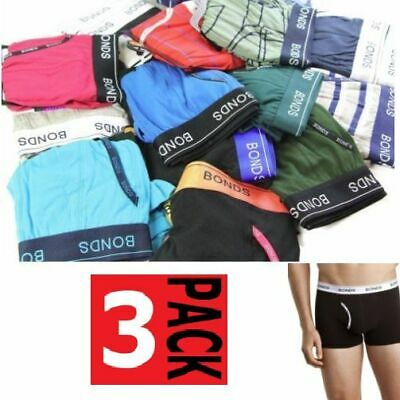 3 x BONDS GUYFRONT TRUNKS Underwear Briefs Boxer Assorted Shorts Sz S M L XL 2XL