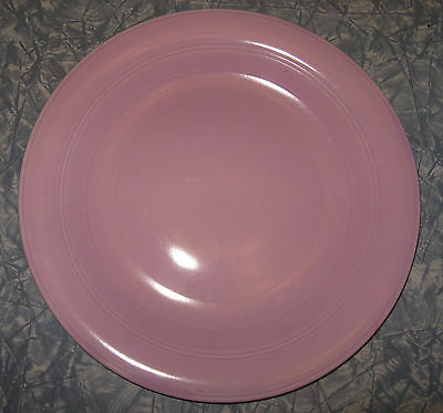 """Vernon Kilns MODERN CALIFORNIA - 12.25"""" CHOP PLATE - Orchid pink color"""