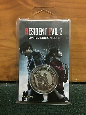 New Resident Evil 2 Limited Edition Collector's Coin - Silver Version 9,995 Made