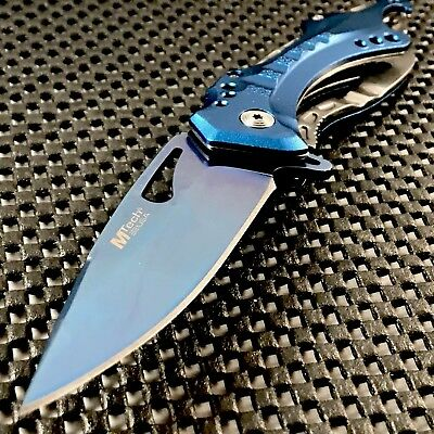"8.25"" MTECH USA 2-TONE SPRING ASSISTED TACTICAL FOLDING POCKET KNIFE Open Assist"