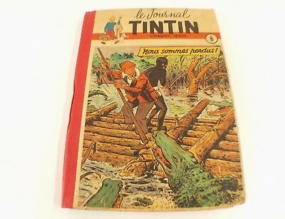 BD Album Le Journal de TINTIN reliure N° 8 1951 n° 120 à n° 136