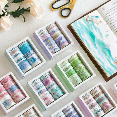 10 Roll/Set Washi Tape Scrapbooking Paper Adhesive Sticker Craft Decorative Gift