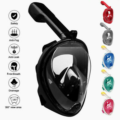 Full Face Snorkel Mask Scuba Diving Swimming Easy Breath Underwater Anti Fog Dry