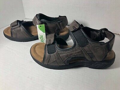 63d6a8e5aaae Croft   Barrow Mens Core Technology Sport Sandals Brown Leather Size 9 NEW