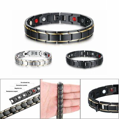 Therapeutic Energy Healing Bracelet Stainless Steel Magnetic Therapy Bracelet HU