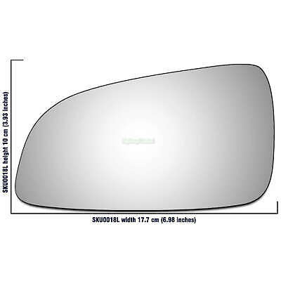Vauxhall Astra Mk5 H 2004 - 2009 left passenger side wing mirror glass 18LS