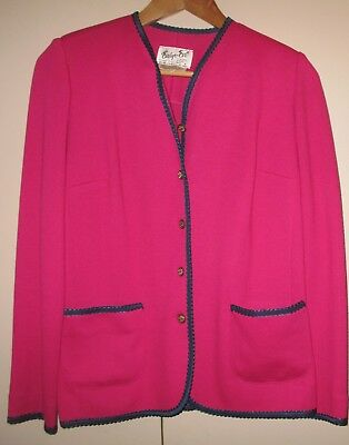VINTAGE 1960s 2 PIECE PINK SUIT SIZE 8 GOOD CONDITION
