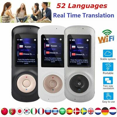 52 Languages WiFi Smart Translator Instant Voice Device Mini Trans Travel Pocket