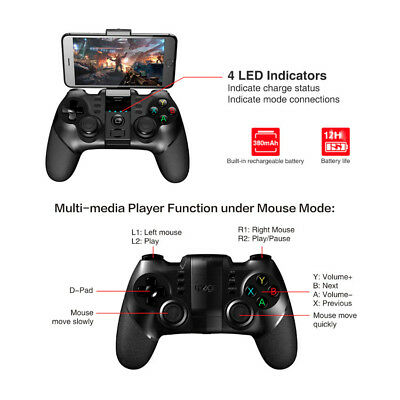 3-in-1 USB Bluetooth Gamepad Wireless Gioco Joystick per Cellulare Android