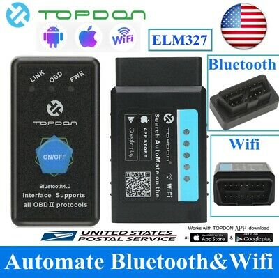 ELM327 BLUETOOTH WIFI Car Scanner Scan OBDII OBD2 Tool Torque Android IOS  iPhone