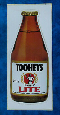 TOOHEYS LAGER.. Original Vintage  1980,s HOTEL PUB BEER advertising sticker