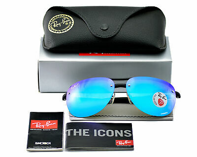 7402e56ff9 Ray-Ban RB4293CH 601 A1 Black Frame Polarized Blue Mirror Chromance 63mm  Unisex