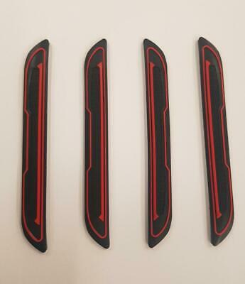 4 x Black Rubber Door Boot Guard Protectors RED Insert (DG5) fits SUZUKI