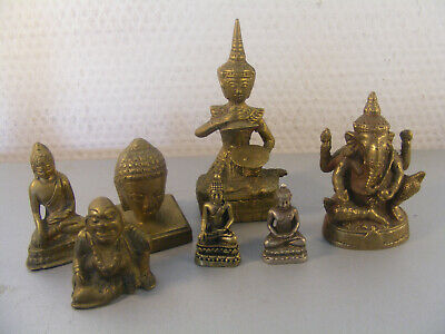 Diverse Messing Bronze Figuren Buddha Ganesha Indien, China, Tibet
