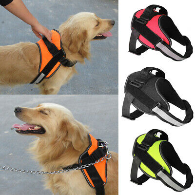 Strong& Adjustable Dog Harness Reflective Pet Puppy Harnesses All Sizes S/M/L/XL