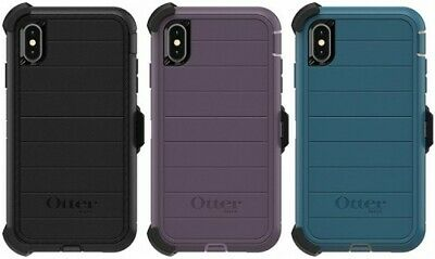 New Authentic OtterBox Defender PRO Series For iPhone Xs Max Case & Holster Clip