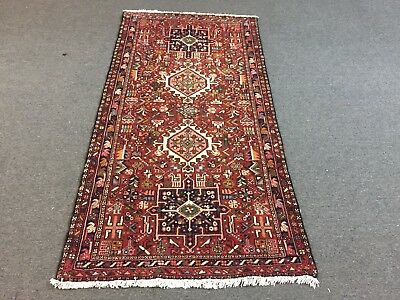 On Sale Great Hand Knotted Persian Ghahrajeh Geometric Rug Runner Carpet 3'2x6'4